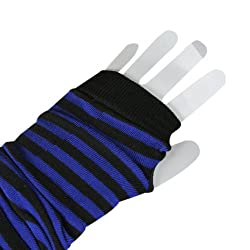 Wrapables Striped Arm Warmers - Black & Indigo