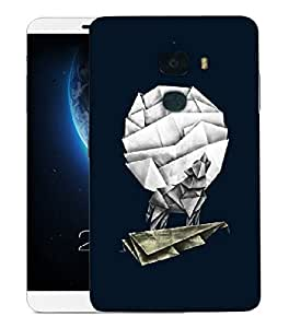 Snoogg Fox On Kite Paper Art Designer Protective Back Case Cover For LETV LE MAX 2