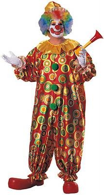 Jack the Jolly Clown Men's Costume Adult Halloween