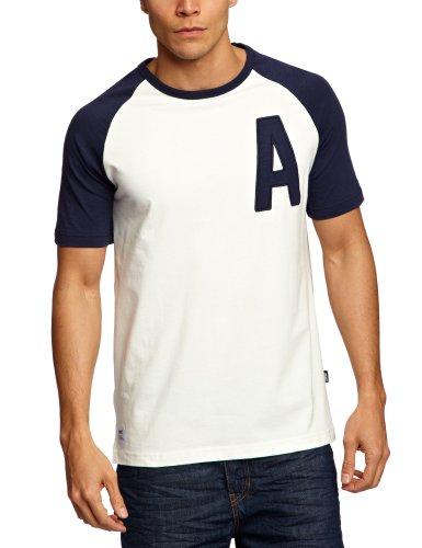 Addict Raglan Capital Printed Men's T-Shirt Navy Large
