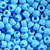 Light Blue Pony Beads 9x6mm 500pc