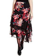 Per Una Floral Long Skirt [T62-7658I-S]