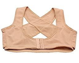 Imixcity Lady Chest Breast Support Belt Band Posture Corrector Brace Body Sculpting Strap Back Shoulder Vest X Type (M)