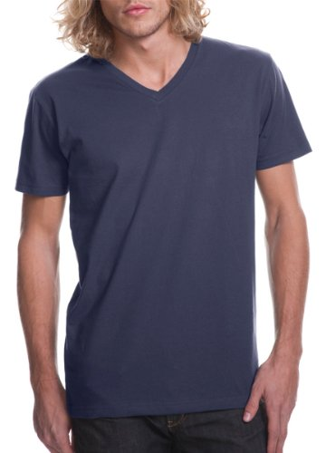 Next Level Apparel Men'S Fitted V-Neck T-Shirt, Indigo, Xx-Large (Pack3) front-12480