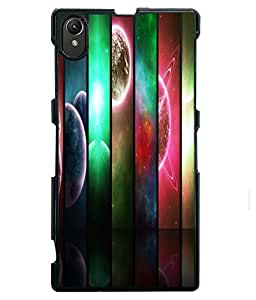 Printvisa 2D Printed Planet Designer back case cover for Sony Xperia Z1 - D4353