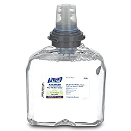 PURELL 539102CT TFX Green Certified Instant Hand Sanitizer Foam Refill, 1200mL, Clear