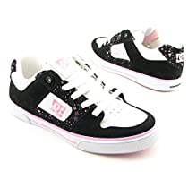 DC SHOE CO USA Pure Skate Shoes Black Youth Kids Girls