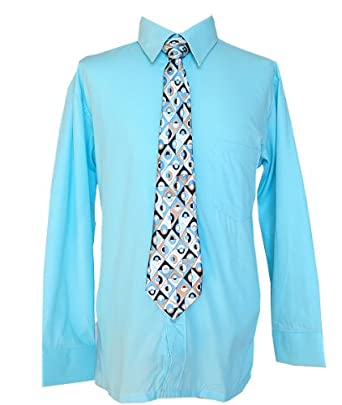 Boys Young Men Youth Aqua Light Blue Dress