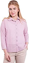 TightHugs Women's Regular Fit Shirt ( 5546474-06_S, Purple, Small)