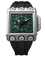 Save Huge On RSW Men's 7120.MS.R1.HL16.00 Outland Grey IP Stainless Steel Automatic Sweeping Seconds Green Luminous Rubber Date Watch Limited time