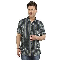 Attila Men's Casual Shirt (11064996S0_Blue Green_42)