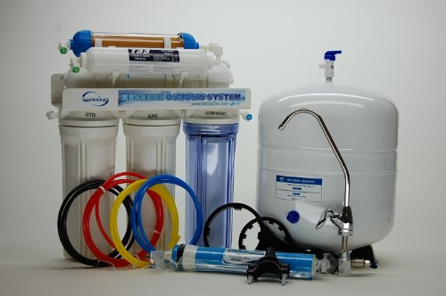 iSpring 75GPD 6-Stage Reverse Osmosis RO DI (De-ionization) Water Filter