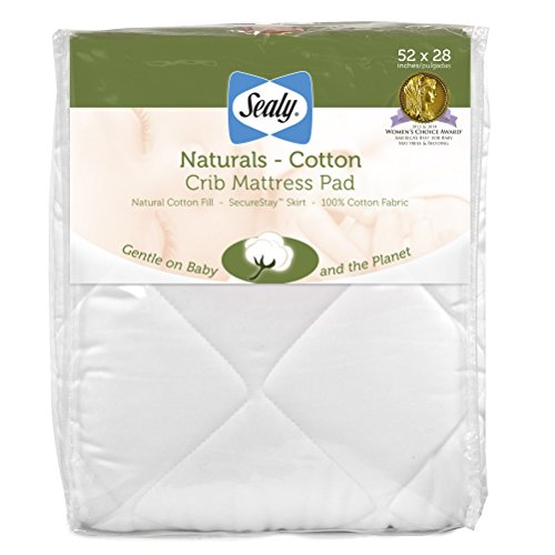 Sealy Natural Cotton Crib Mattress Pad 52 X 28   EvanHardyEvaW