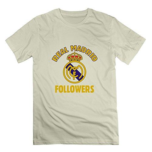 Rose Memery da uomo con Logo del Real Madrid, UEFA 2016 Tshirts natur M