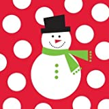 Creative Converting 100 Count Snowman Dots Lunch Napkins