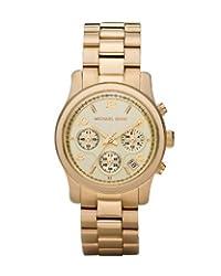 Michael Kors Mk5055 Ladies Sport Champagne Dial & Gold Plated Bracelet Watch