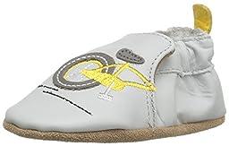 Robeez Boys\' Bike Ride Loafer, Grey, 12-18 Months M US Infant