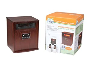 Lifesmart 6 Element 1500 Square Foot Infrared Heater W/ All Wood cabinet & Remote from Lifesmart