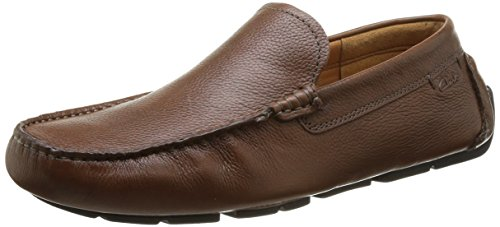 Clarks Davont Drive Slip On Uomo, Marrone (Braun (Tan Tumbled Leather)), 41
