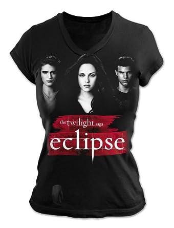 Warner Music Shirts Twilight Eclipse Characters Women's T-Shirt Grey UK 12