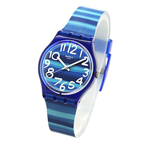 Swatch Unisex GN237 Blue Plastic Watch 1