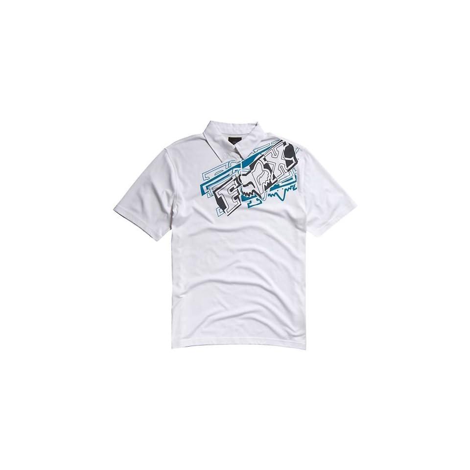 Fox Racing Brazzer Polo Shirt WHITE Md