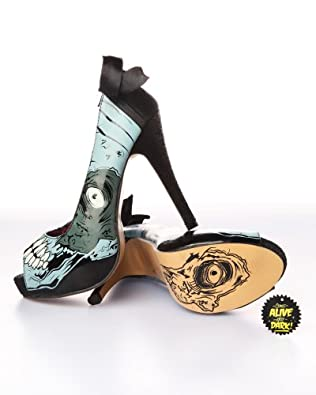 Iron Fist Glow In The Dark Limited Edition Zombie Stomper Platforms Shoe Size: 6