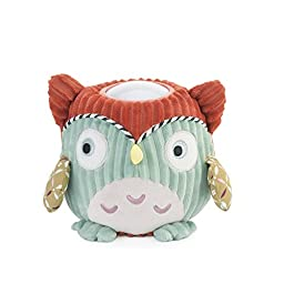 Me Too Cartoon Plush Green Owl LED Night Light Kids Baby Bedroom Lamp