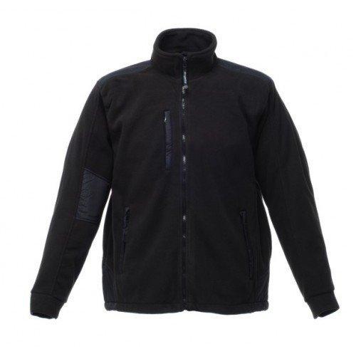 Regatta RG132 Men's Defiant II Lined Anti Pill Symmetry Fleece Jacket, XX-Large, Black/Black