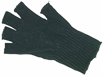 Fox GI Fingerless Gloves, Black, O/S