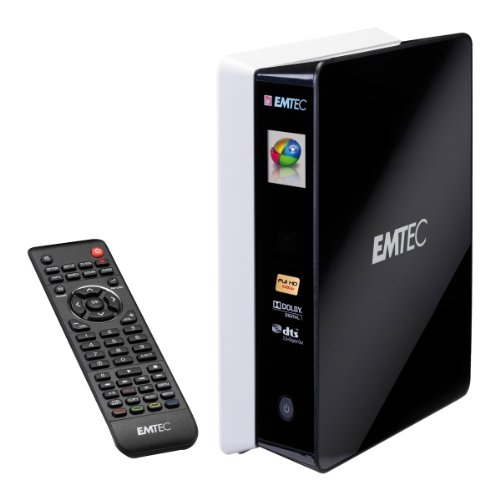 Emtec Movie Cube S800H 1 Tb Media Player Hard Drive, Black
