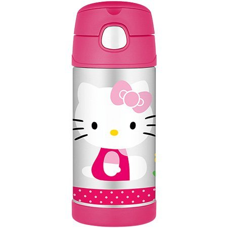 Hello Kitty Thermos 12 Ounce Funtainer Bottle With Pop-Up Handle front-1057531