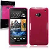 HTC One (M7) TPU Gel Skin Case / Cover - Hot Pinkby TERRAPIN