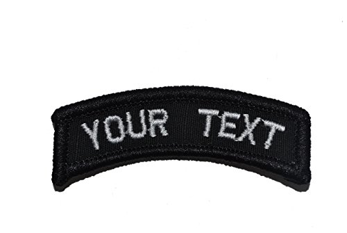 Customizable Text Tab Patch w/Velcro - Military/Morale - Black (Custom Velcro Patch compare prices)