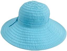 San Diego Women\'s Ribbon Large Brim Hat,Aqua,One Size