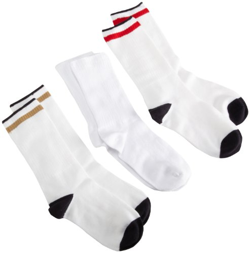 Jefferies Socks Big Boys'Crew Socks (Pack of 6),Assorted A,9-11