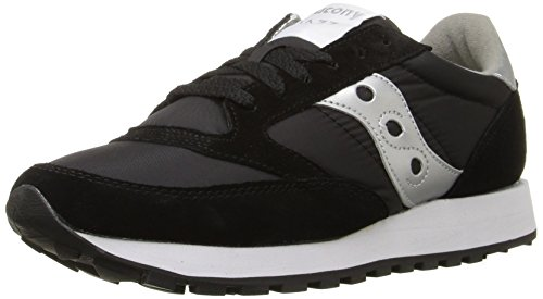Saucony Jazz Original, Scarpe  Low-Top, Donna, Nero (Black/Silver), 37.5 EU