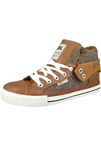 British Knights BK Sneaker ROCO B34-3733 Braun Cognac Brown, Groesse:44 EU / 10 UK / 10.5 US