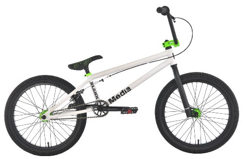 Blank 2012 Media 20″ BMX Bike – Matte White/Neon Green
