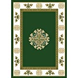 """7'8"""" x 10'7"""" Home Dynamix 7114 Machine Made Turkish """"Premium Collection"""" Hunter Green Color Rug"""