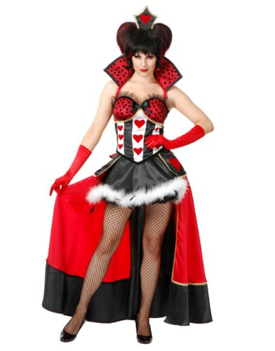 Red Queen With Over Skirt Costume