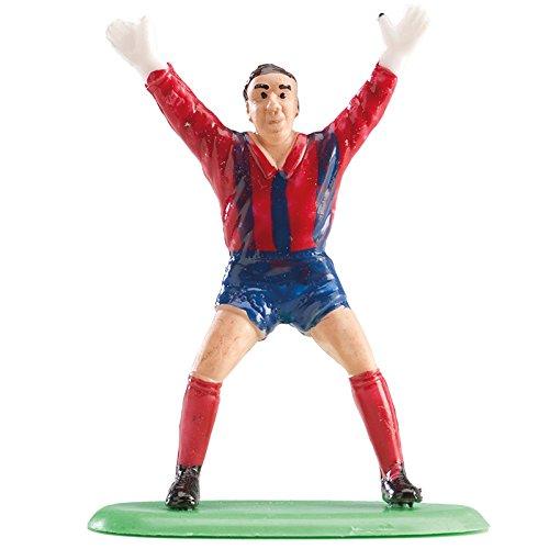 Football 302018 Kit Décoration Gâteau Figurine Plastique Blanc/Rouge 6 x 5 x 8 cm