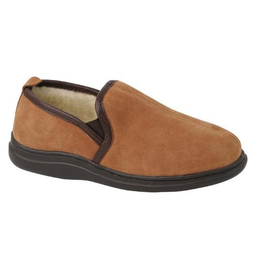 L.B. Evans Men's Klondike Slipper,Saddle,14 M