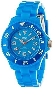 ICE-Watch - Montre Mixte - Quartz Analogique - Ice-Solid - Blue - Small - Cadran Bleu - Bracelet Plastique Bleu - SD.BE.S.P.12