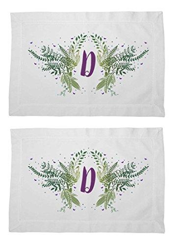 Floral Feast Personalized Custom Monogram Placemat, Letter D Set of 2 (Monogram Letter D Mat compare prices)