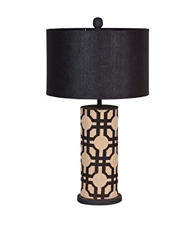 Mercana Roxberre 1-Light Table Lamp, Black/Beige