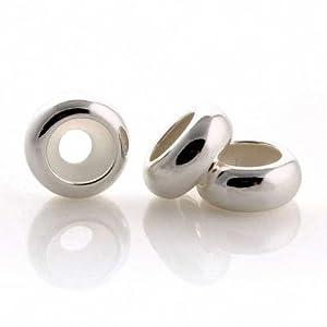 Taotaohas- Charms Stoppers Perles écarteur de chaîne pour bracelet, Argent 925/1000 solide sterling, 1PC, fit européen Bracelets Necklaces Colliers, Charms Beads Perles chaîne Breloques