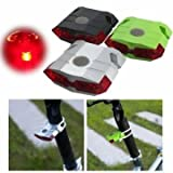 Bike Bicycle Tail Lights USB Chargeable Light Flash Lamp 4 LED Rear Lights(Black)