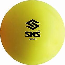 SNS MATCH SMOOTH FLURO YELLOW Hockey Balls - Box of 6.