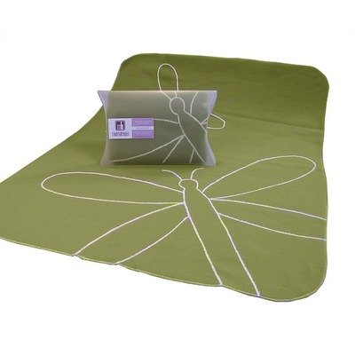 Boo Dragonfly Baby Blanket in Green - 1
